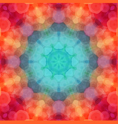 kaleidoscope pattern made of red and green vector image