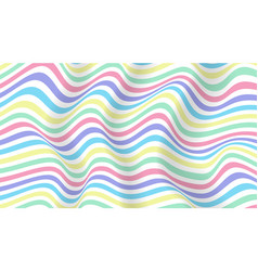 layouts with wavy stripes lines vector image