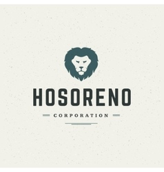 Lion Head Logo Design Element vector