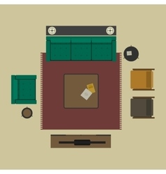 Living room in flat style vector image