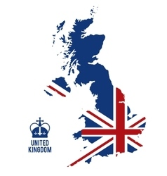 Map and flag icon United kingdom design vector
