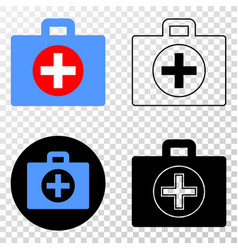 medical case eps icon with contour version vector image