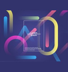 Modern style abstraction with composition made of vector