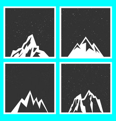 mountain silhouette for stickers badges stamps vector image