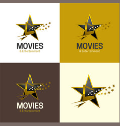 Movies and entertainment logo and icon vector