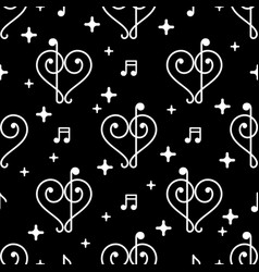 music notes black pattern vector image
