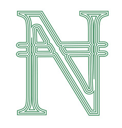 naira nigeria currency symbol icon striped vector image