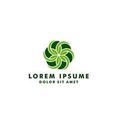 natural logo design template leaf icon flower vector image