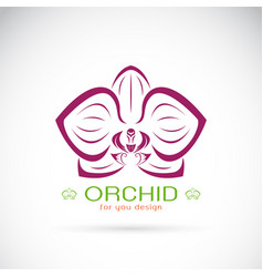 Orchid logo on a white background flower vector