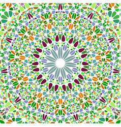 Oriental colorful geometrical radial flower vector