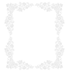 Ornate floral frame in Russian vector