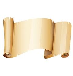 Piece of brown paper vector