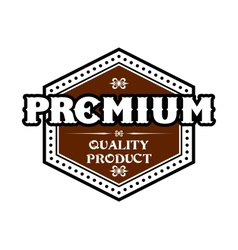 Premium Quality Product label vector image