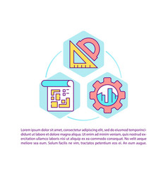 Project management for construction concept icon vector
