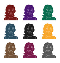 readhead woman icon in black style isolated on vector image