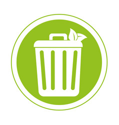 Recycle bin ecology symbol icon vector