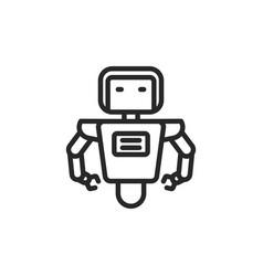 robot icon vector image