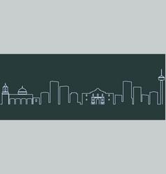 San antonio single line skyline vector