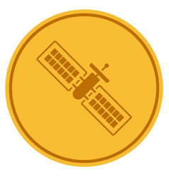 Satellite gold coin vector