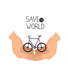 Save the world concept icon vector