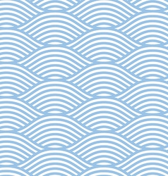 Seamless line wave background pattern vector image