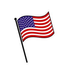 simple flag isolated vector image