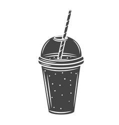 Smoothies glyph icon vector