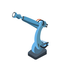 special robotic tool isolated on white vector image