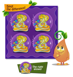 Spot the difference snake flute vector