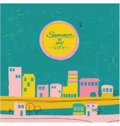 Summer in a city vector image