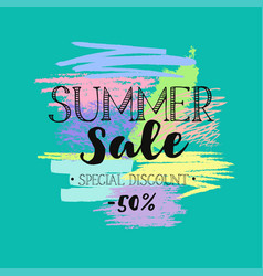 summer sale template 4 vector image