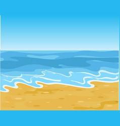 summer sandy sea beach vector image