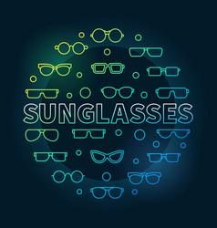 sunglasses round colored vector image