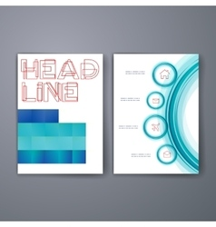 Templates flyer brochure cover for print vector image