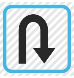 Turn Back Icon In a Frame vector