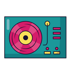 turntable vinyl record on white background vector image