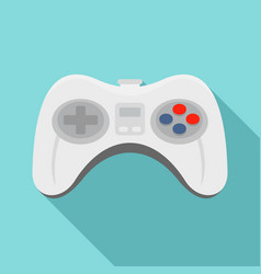 videogame controller icon flat style vector image