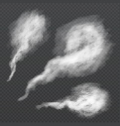White smoke puff vapour trail steam flow vector