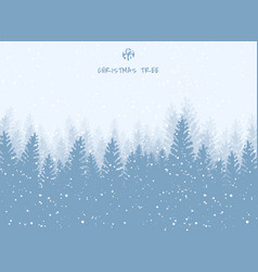 Winter landscape christmas holiday trees against vector
