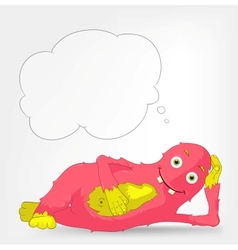 Funny Monster Relaxation vector image