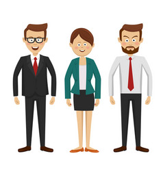 group of business people standing vector image vector image