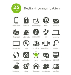 Media and communication2 vector image vector image