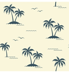 Palms seamless background vector image vector image