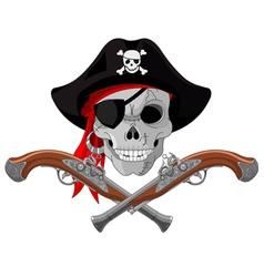 Pirate Skull and guns vector image vector image