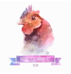 set of watercolor Cute vector image