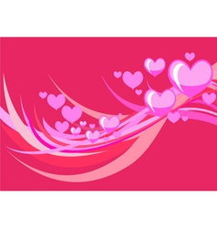 stylized hearts vector image vector image