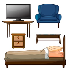 Wooden furnitures vector image vector image