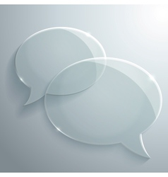 Abstract Glass Speech Bubbles vector image