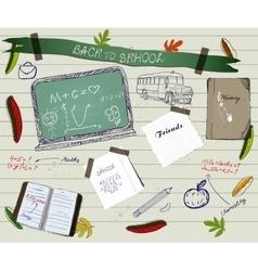 Back to school scrapbooking poster2 vector image