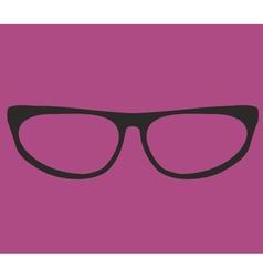 Black secretary glasses on violet background vector image